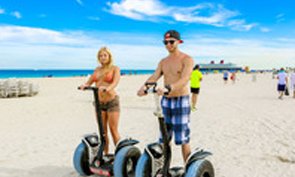 The Segway Tours of Miami Beach will even take you on the beach during the tour.